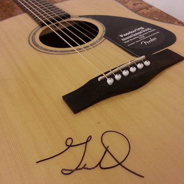 Gavin DeGraw Signed Guitar Giveaway