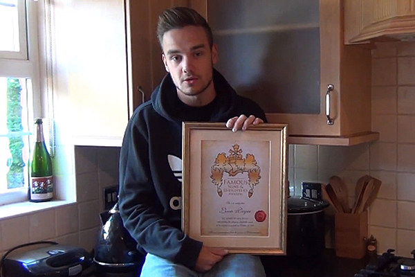 Liam Payne of One Direction Accepts Sons + Daughters Award