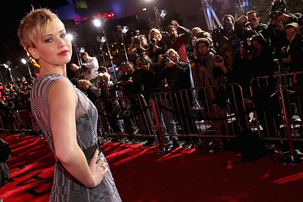 Jennifer Lawrence Wears See-Through Dior Dress at L.A. 'Catching Fire' Premiere