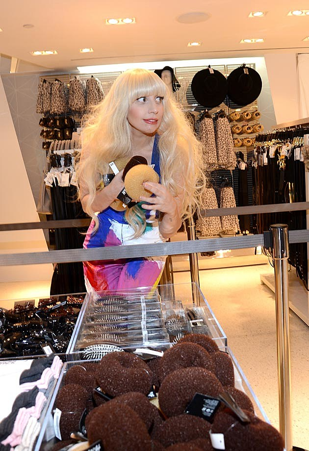 Lady Gaga H&M NYC