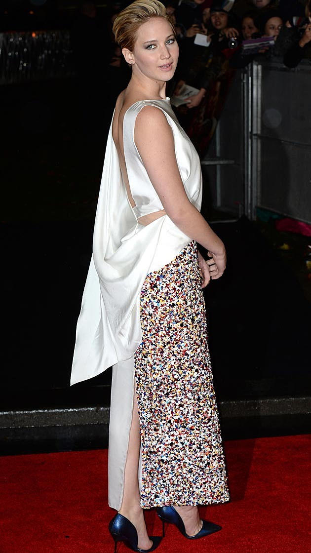 J Law Dior Catching Fire Premiere UK
