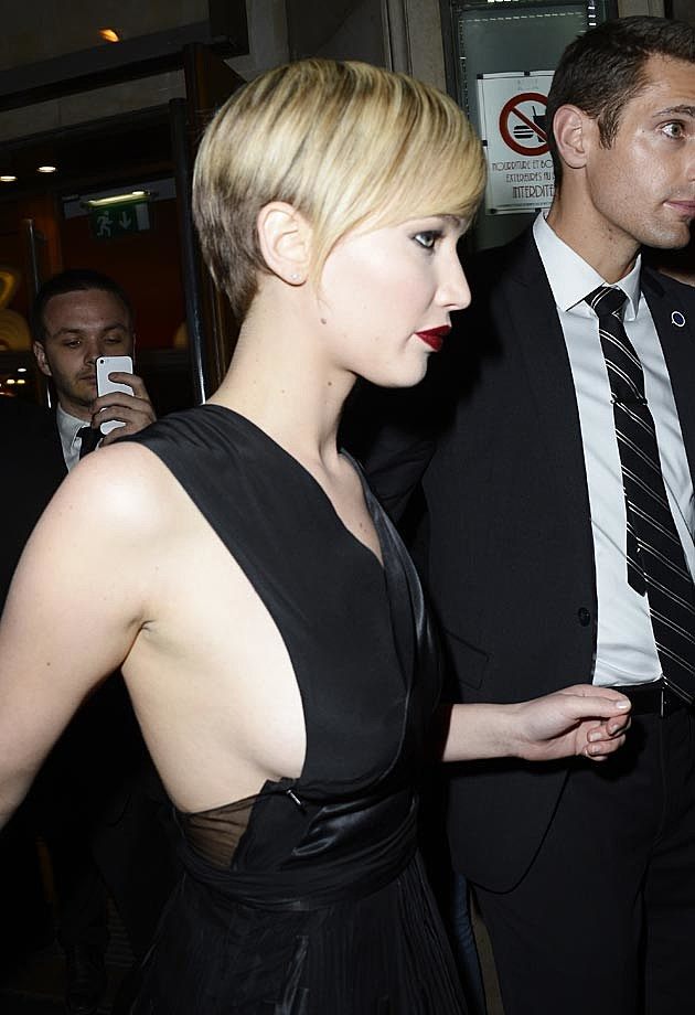 Jennifer Lawrence Dior Sideboob Paris