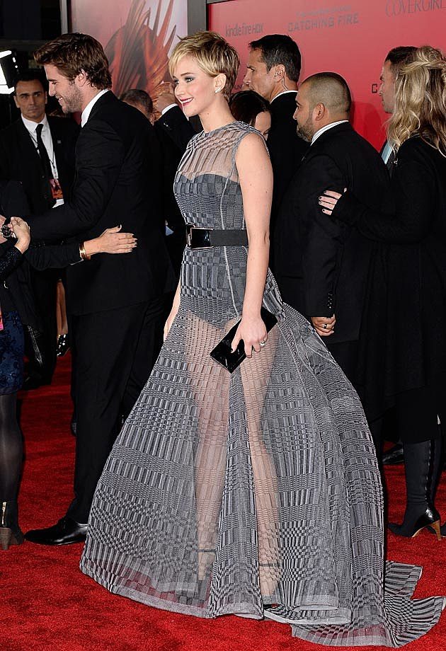 Jennifer Lawrence See-Through Dior