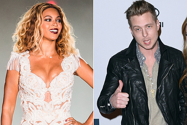 RIO DE JANEIRO, BRAZIL - SEPTEMBER 13: Singer Beyonce performs on stage during a concert in the Rock in Rio Festival on September 13, 2013 in Rio de Janeiro, Brazil. (Photo by Buda Mendes/Getty Images) / BEVERLY HILLS, CA - FEBRUARY 09: Singer Ryan Tedder (L) and Genevieve Tedder arrives at Clive Davis & The Recording Academy's 2013 Pre-GRAMMY Gala and Salute to Industry Icons honoring Antonio 'L.A.' Reid at The Beverly Hilton Hotel on February 9, 2013 in Beverly Hills, California. (Photo by Jason Merritt/Getty Images)