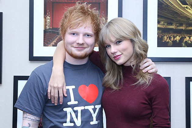 NEW YORK, NY - NOVEMBER 01: Taylor Swift joins Ed Sheeran on stage at his sold-out show at Madison Square Garden Arena on November 1, 2013 in New York City. (Photo by Anna Webber/Getty Images for Atlantic Records)