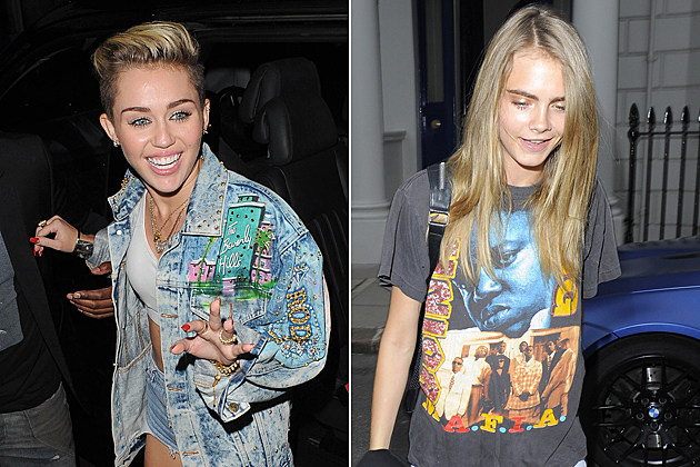 cara delevingne and miley cyrus the whose ready to party