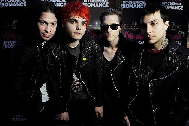 my-chemical-romance-greatest-hits-may-death-never-stop-you My Chemical Romance May Death Never Stop You Greatest Hits WEST HOLLYWOOD, CA - MAY 23: (L-R) Musicians Ray Toro, Gerard Way, Mikey Way and Frank Iero of My Chemical Romance pose at a press party of announce the 2011 Honda Civic Tour featuring blink-182 and My Chemical Romance at the Rainbow Bar and Grill on May 23, 2011 in West Hollywood, California. (Photo by Kevin Winter/Getty Images)
