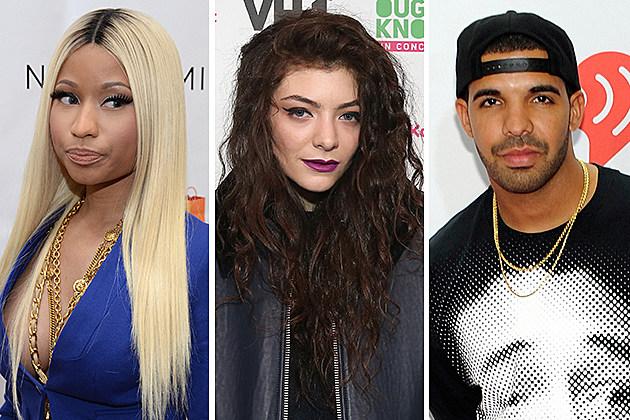 Nicki Minaj, Lorde, Drake