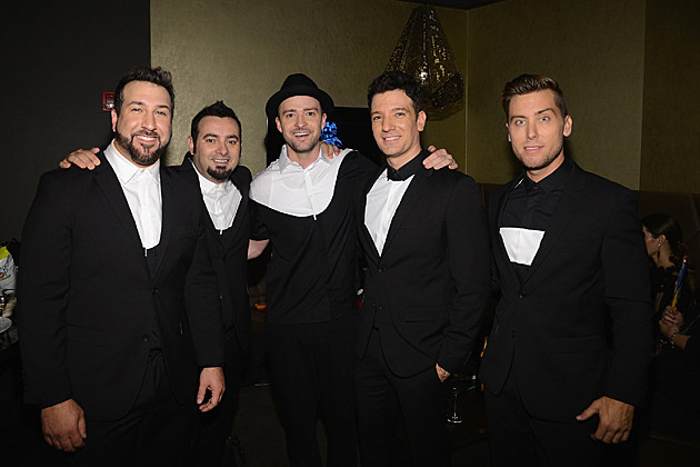 NEW YORK, NY - AUGUST 25: (EXCLUSIVE COVERAGE) Joey Fatone, Chris Kirkpatrick, Justin Timberlake, JC Chasez and Lance Bass of N'Sync attend the 2013 MTV Video Music Awards at the Barclays Center on August 25, 2013 in the Brooklyn borough of New York City. (Photo by Larry Busacca/Getty Images for MTV)