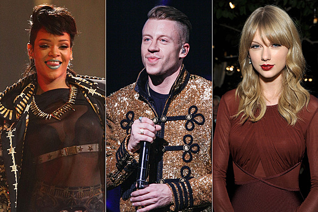 Rihanna 2013 American Music Awards Macklemore 2013 American Music Awards Taylor Swift 2013 American Music Awards