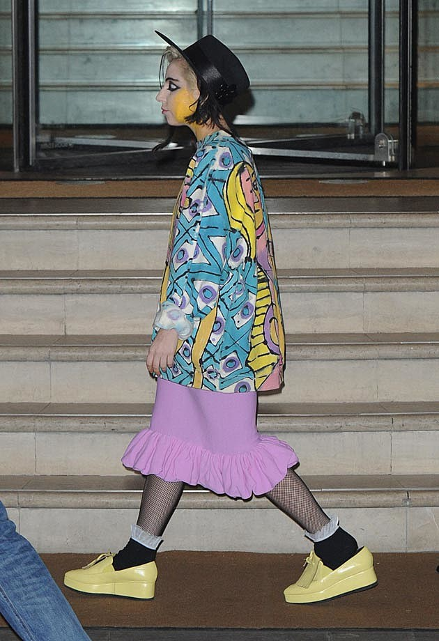 Lady Gaga Homeless Boy George Look