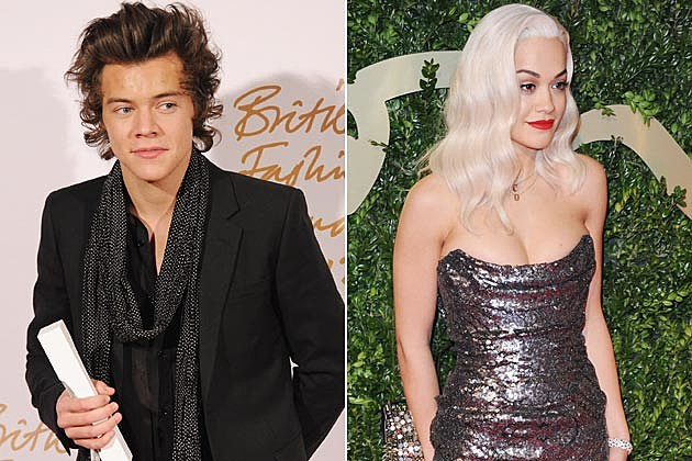 Harry Styles Rita Ora British Fashion Awards 2013