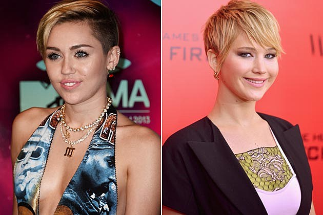 Miley Cyrus Jennifer Lawrence