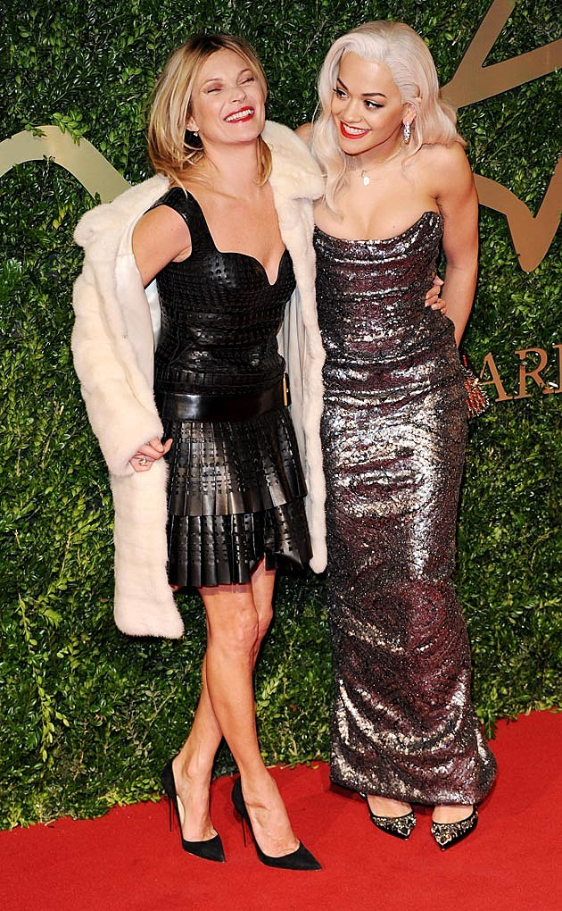 Rita Ora Kate Moss British Fashion Awards