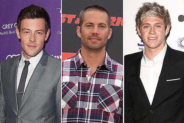 Cory Monteith, Paul Walker, Niall Horan