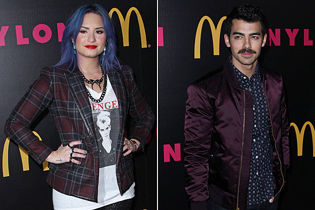 demi-lovato-joe-jonas 109900, LOS ANGELES, CALIFORNIA - Thursday December 5, 2013. Demi Lovato, Nylon Magazine's December issue party at Stage One in West Hollywood, California. Photograph: ©Max DeAngelo, PacificCoastNews.com 109900, LOS ANGELES, CALIFORNIA - Thursday December 5, 2013. Joe Jonas, Nylon Magazine's December issue party at Stage One in West Hollywood, California. Photograph: ©Max DeAngelo, PacificCoastNews.com