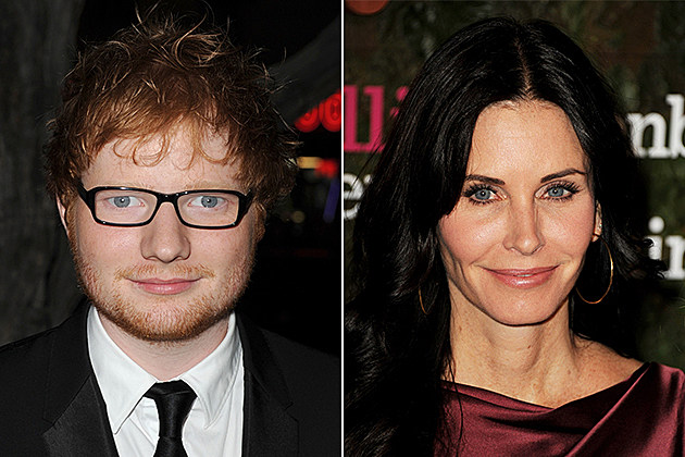 Ed Sheeran, Courteney Cox