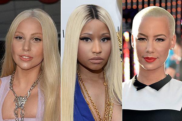 Lady Gaga vs. Nicki Minaj vs. Amber Rose: Whose Green Hair Do You Like Best? - Readers Poll