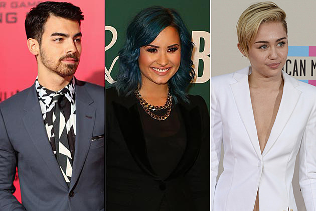 Joe Jonas Demi Lovato Miley Cyrus