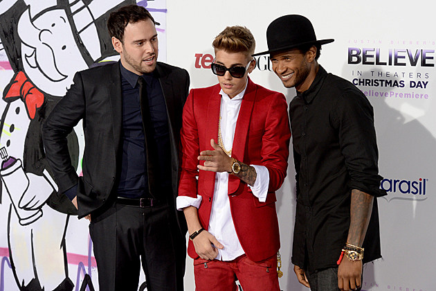 scooter-braun-justin-bieber-usher-believe-premiere Scooter Braun Justin Bieber Usher Believe Premiere