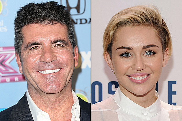 Simon Cowell, Miley Cyrus