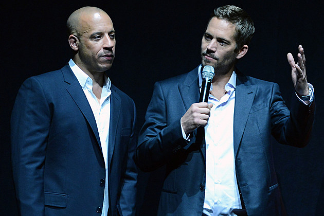vin-diesel-paul-walker-fast-and-furious Paul Walker dead LAS VEGAS, NV - APRIL 16: Actors Vin Diesel (L) and Paul Walker attend a Universal Pictures presentation to promote their upcoming film 'Fast & Furious 6' at The Colosseum at Caesars Palace during CinemaCon, the official convention of the National Association of Theatre Owners, on April 16, 2013 in Las Vegas, Nevada. (Photo by Ethan Miller/Getty Images)