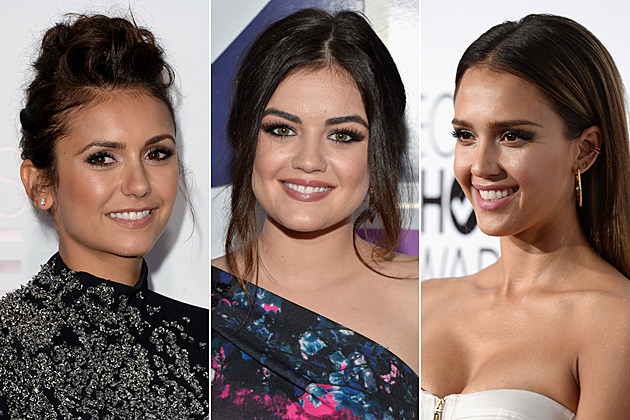 2014-peoples-choice-awards-bts Nina Dobrev Lucy Hale Jessica Alba 2014 Peoples Choice Awards