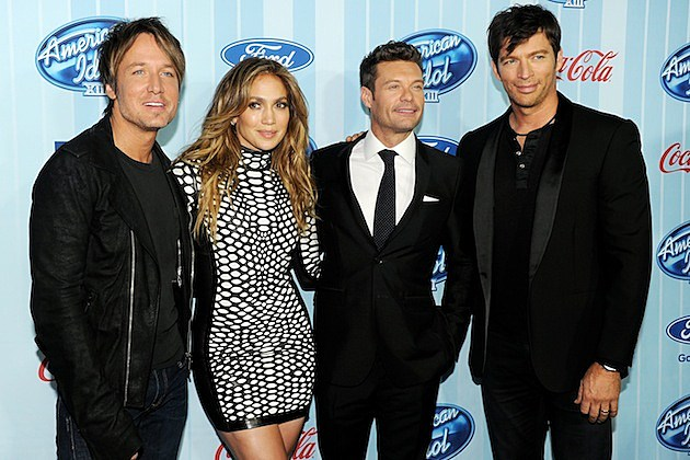 Keith Urban Jennifer Lopez Ryan Seacrest Harry Connick Jr.