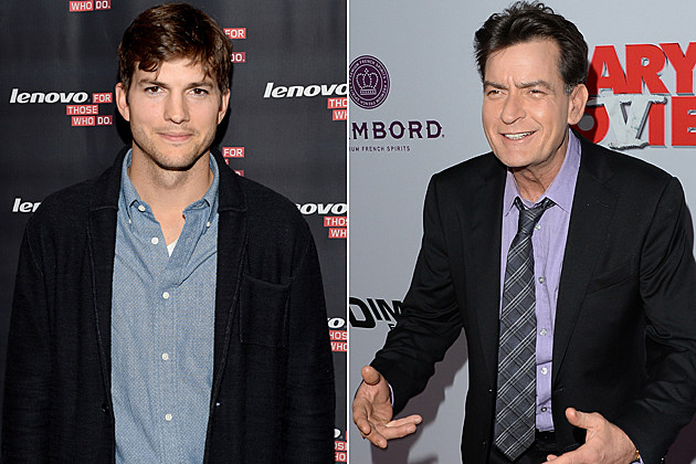 Ashton Kutcher Charlie Sheen