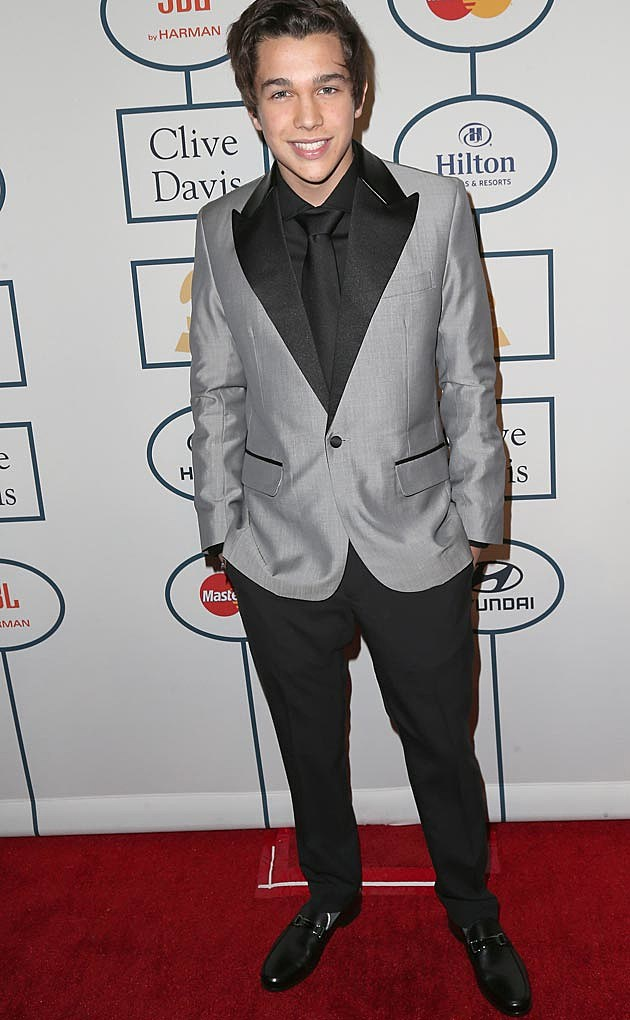 Austin Mahone Clive Davis Grammy Party