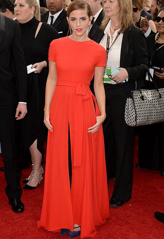 Emma Watsomn 2014 Golden Globes Dior Couture