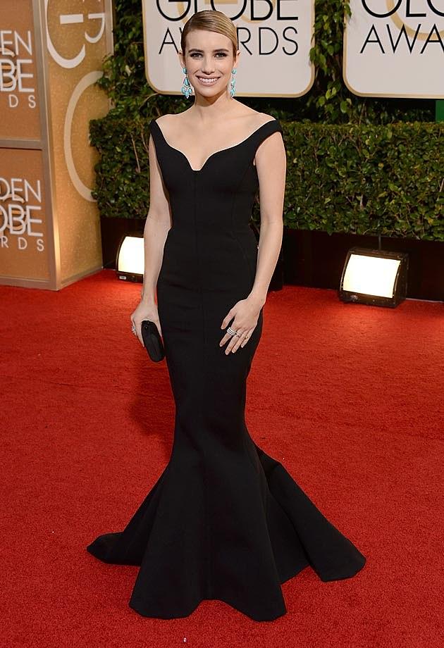 Emma Roberts 2014 Golden Globes
