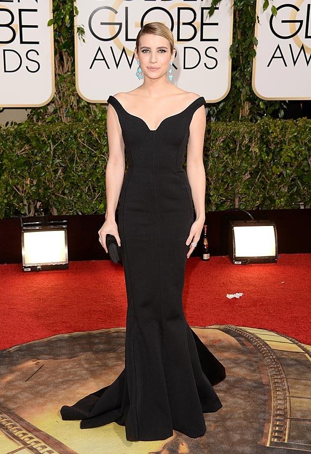 Emma Roberts 2014 Golden Globes Lanvin