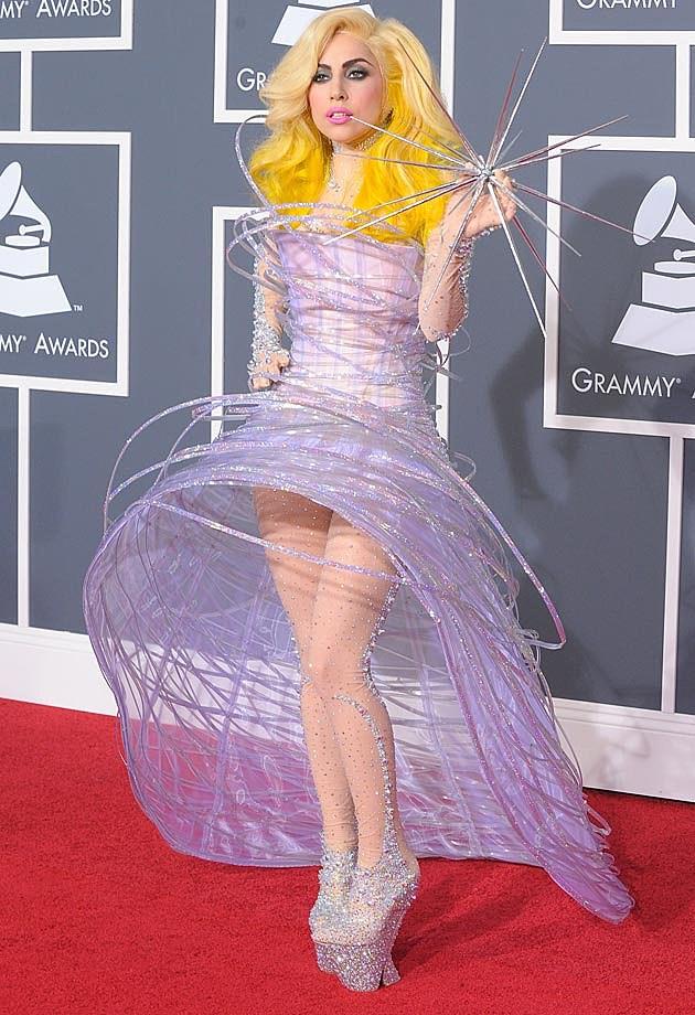 Lady Gags 2010 Grammys Armani