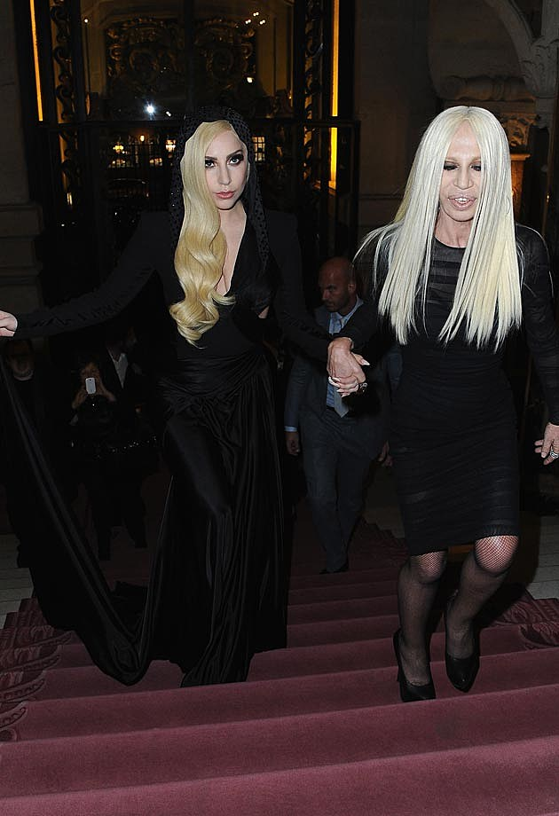 Lady Gaga Versace Fashion Show