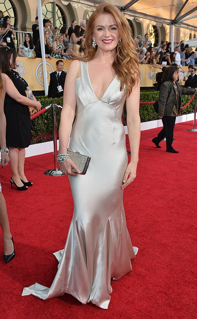 Isla Fisher 2014 SAG Awards Oscar de la Renta