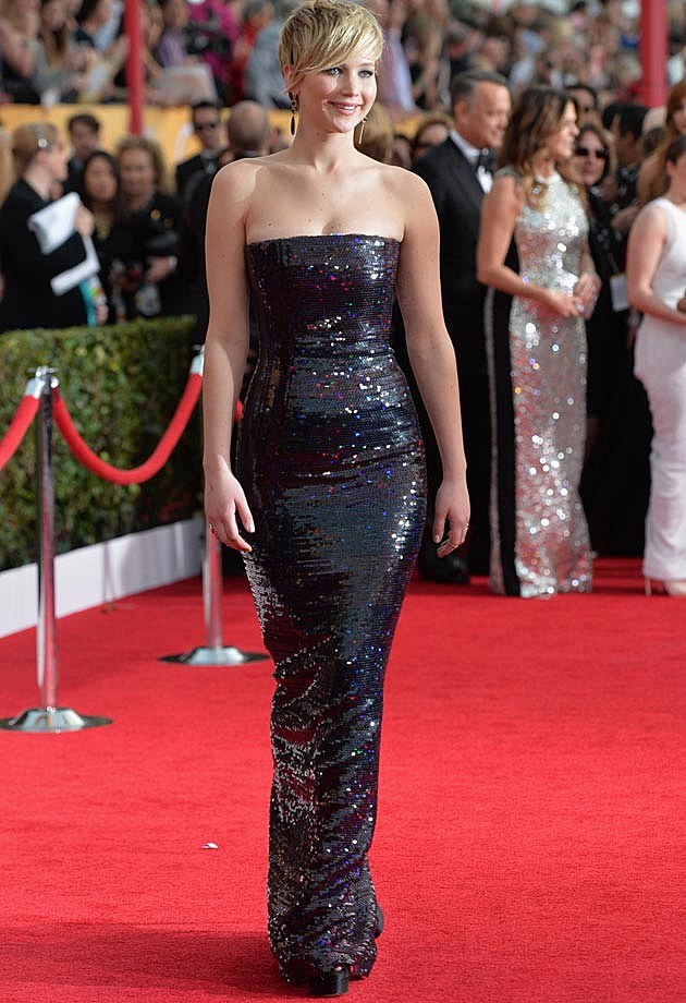 Jennifer Lawrence 2014 SAG Awards Dior