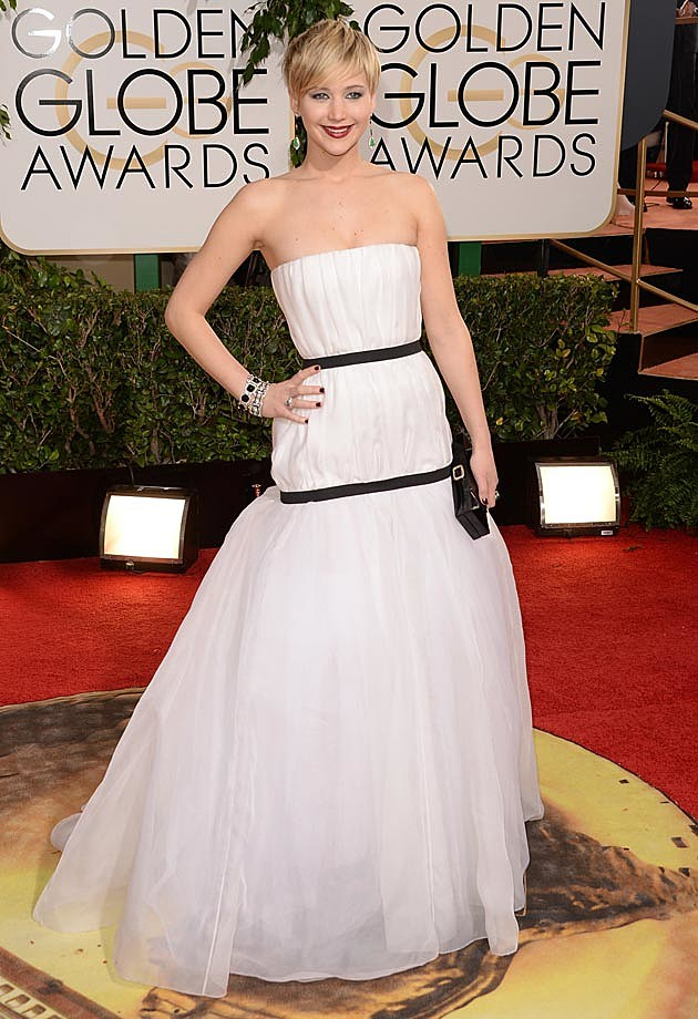 Jennifer Lawrence 2014 Golden Globes Dior