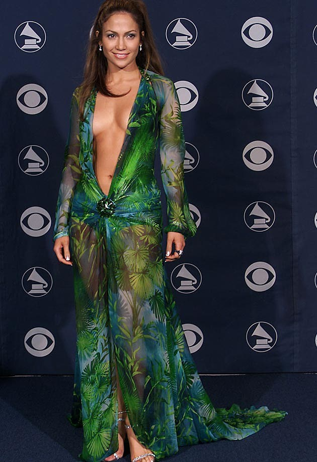 Jennifer Lopez Versace 2000 Grammys