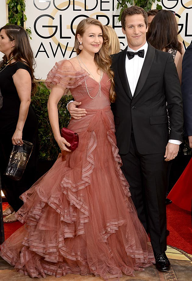Joanna Newsom Andy Samberg 2014 Golden Globes