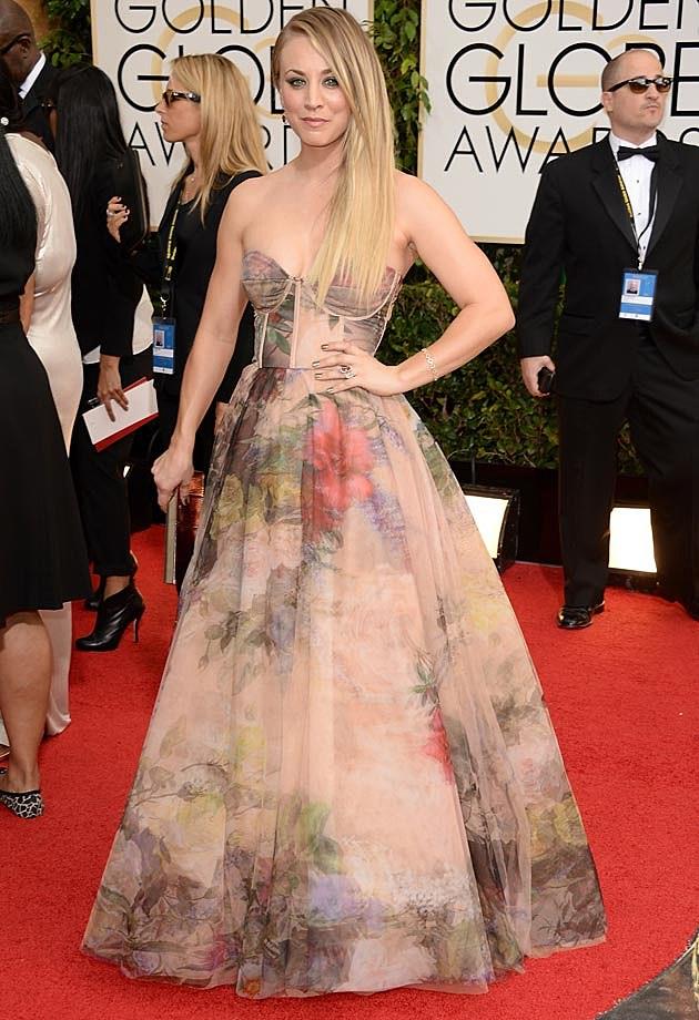 Kaley Cuco Rani Zakhem 2014 Golden Globes
