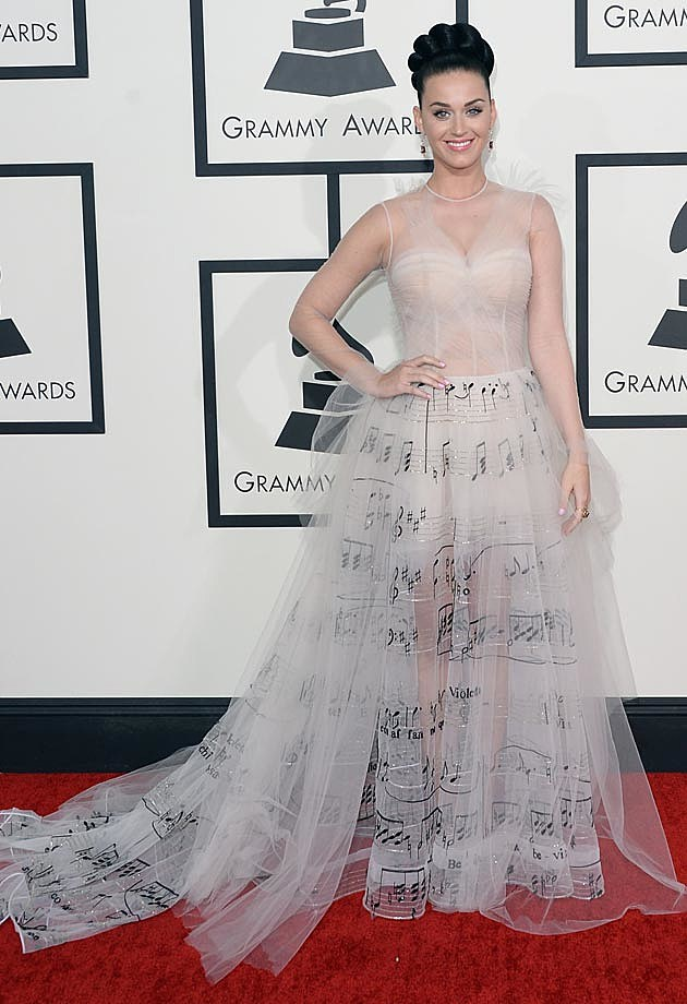 Katy Perry 2014 Grammys Valentino