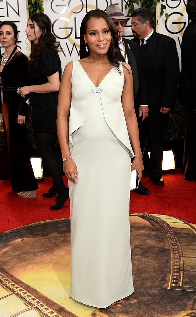 Kerry Washington 2014 Golden Globes Balenciaga