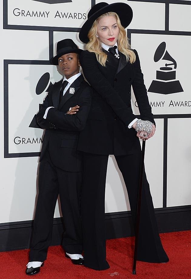 Madonna David Ralph Lauren 2014 Grammys