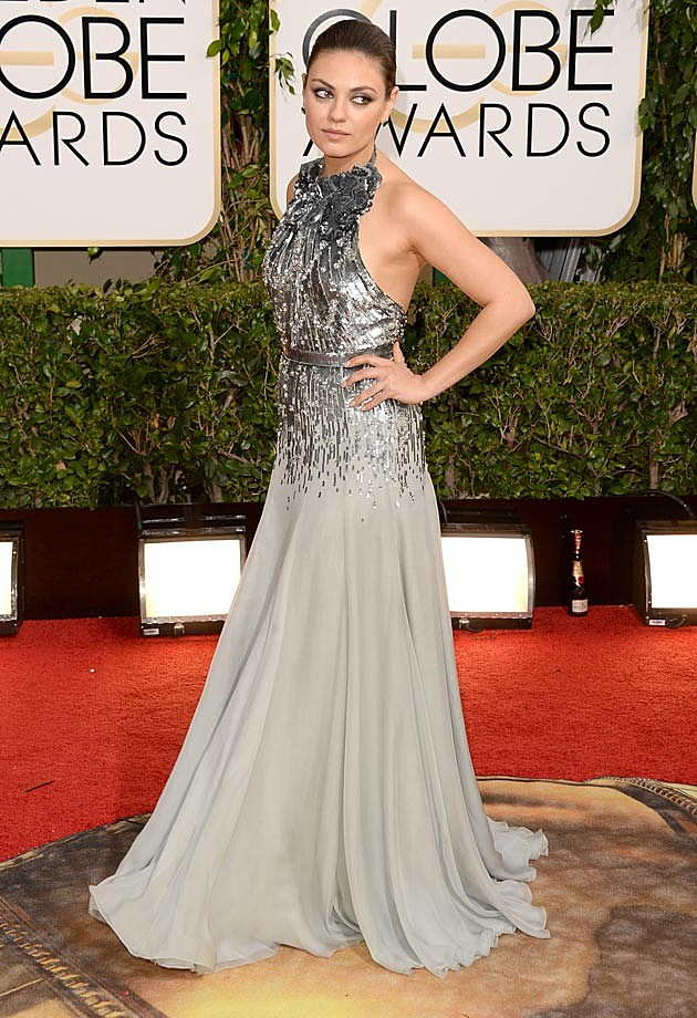 Mila Kunis Gucci Premiere 2014 Golden Globes