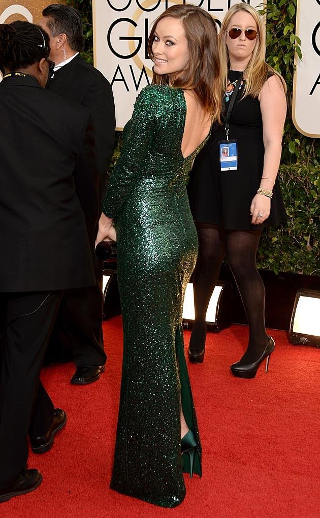 Olivia Wilde 2014 Golden Globes