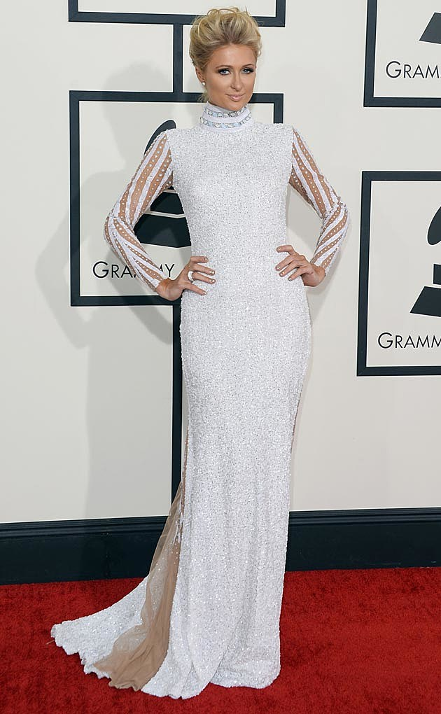 Paris Hilton 2014 Grammys House of Milani