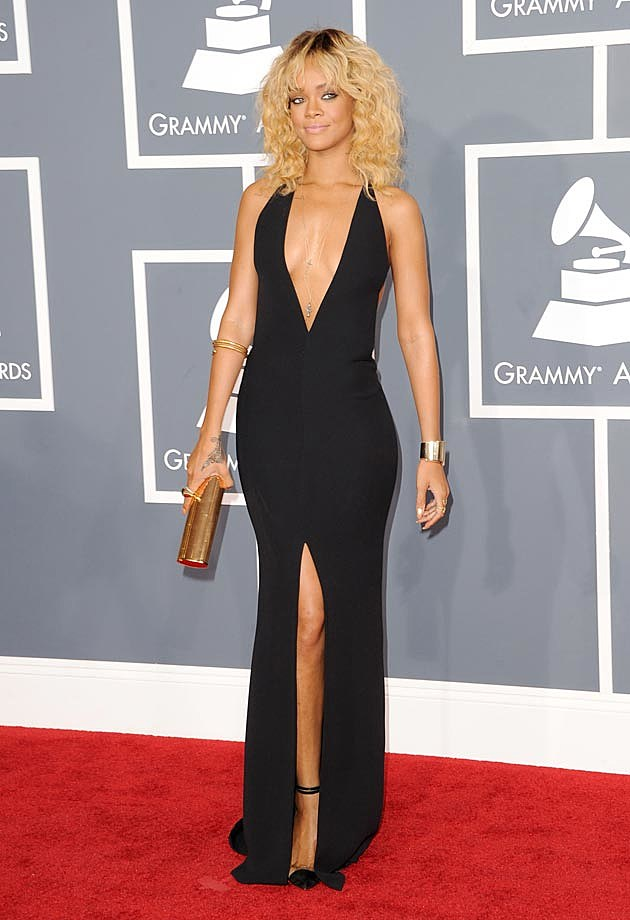 Rihanna Armani 2012 Grammys