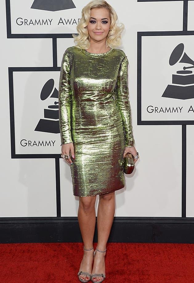 Rita Ora Lanvin 2014 Grammys