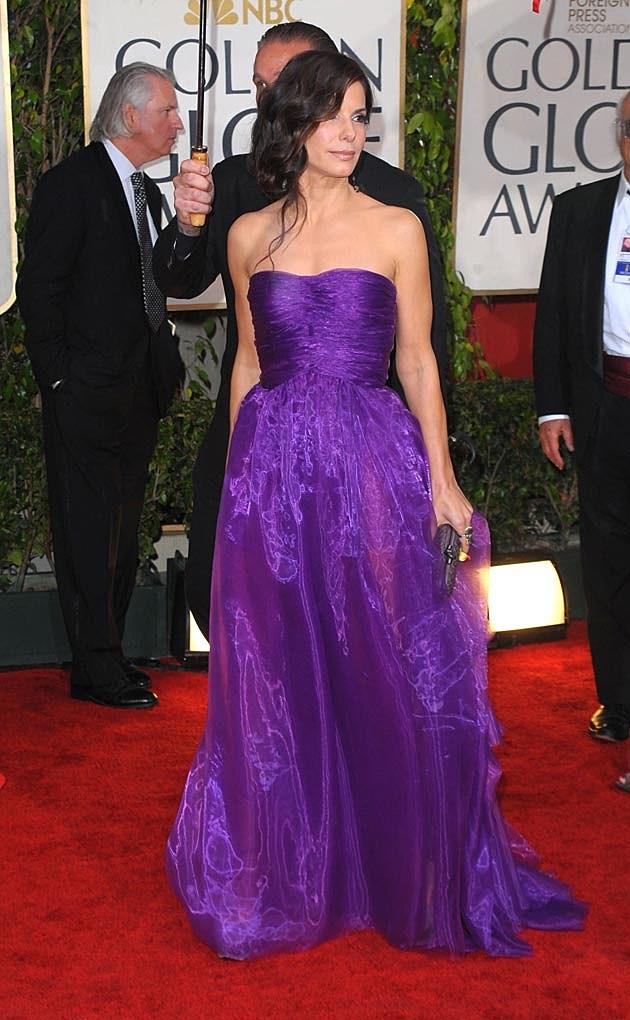 Sandra Bullock Bottega Veneta 2010 Golden Globes